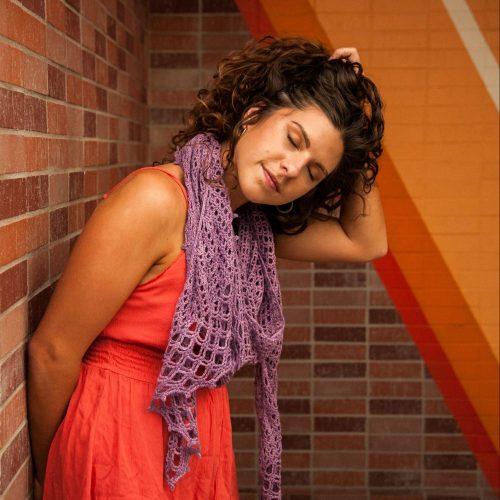 Gridlock crochet shawl