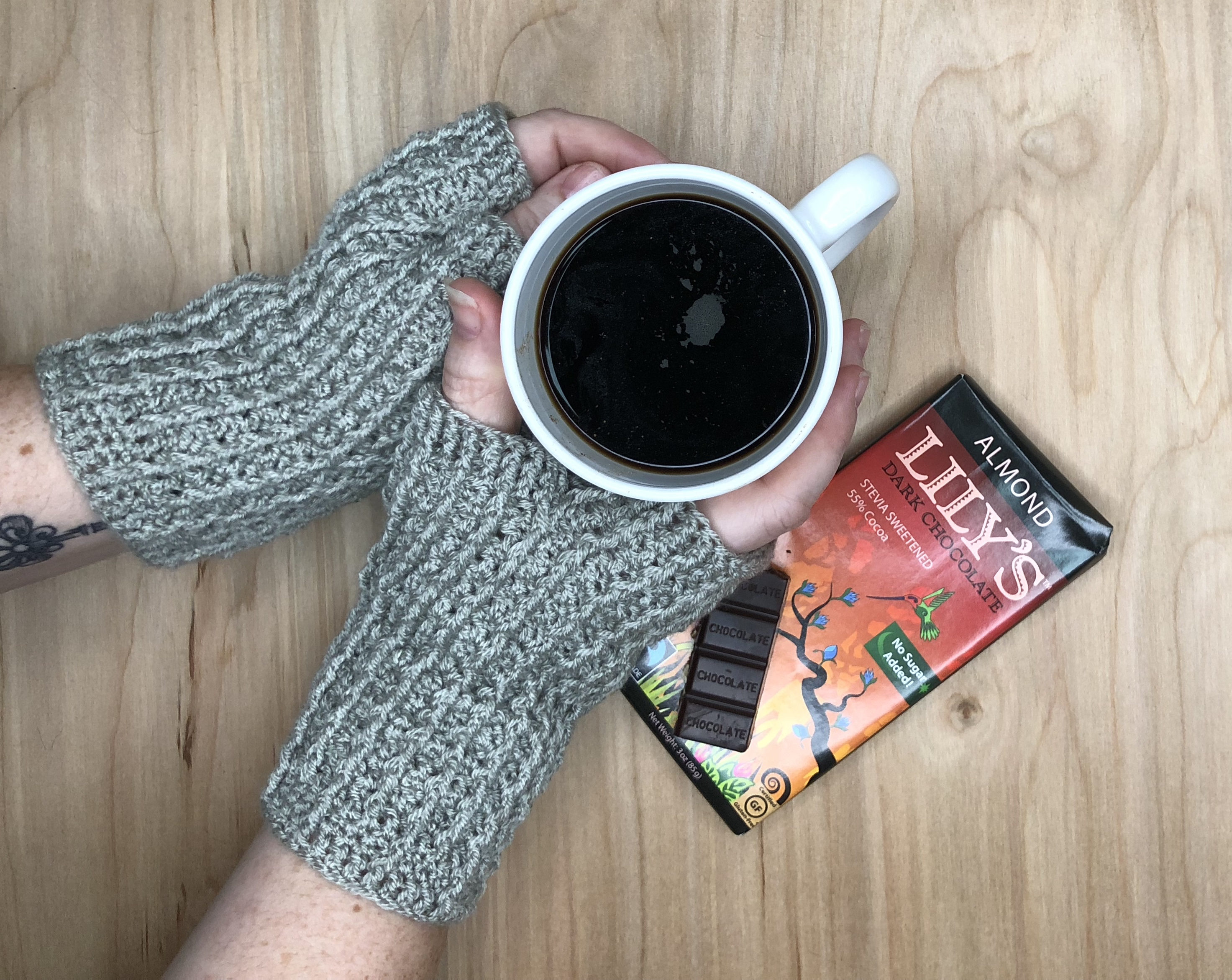 Silver Rails Fingerless Mitts