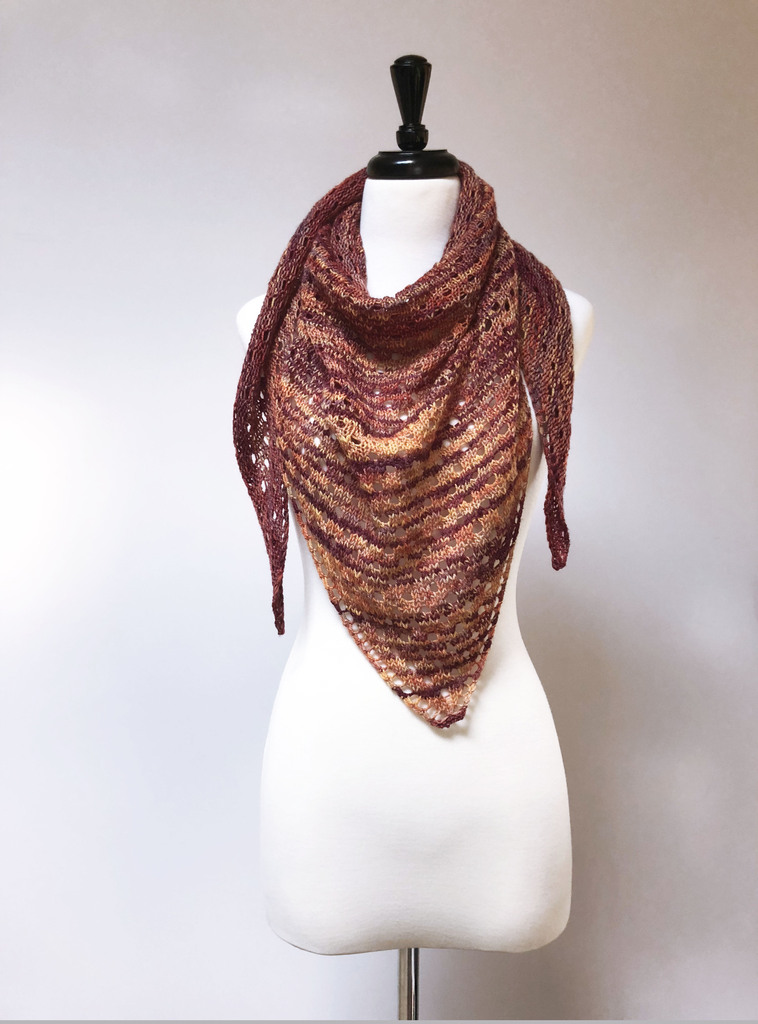 Knit shawl mary mary on cream dress form