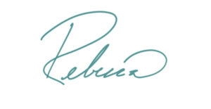 handwritten signature by Rebecca