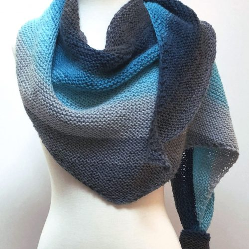 Shawl One free knit pattern – 1 Ball shawl