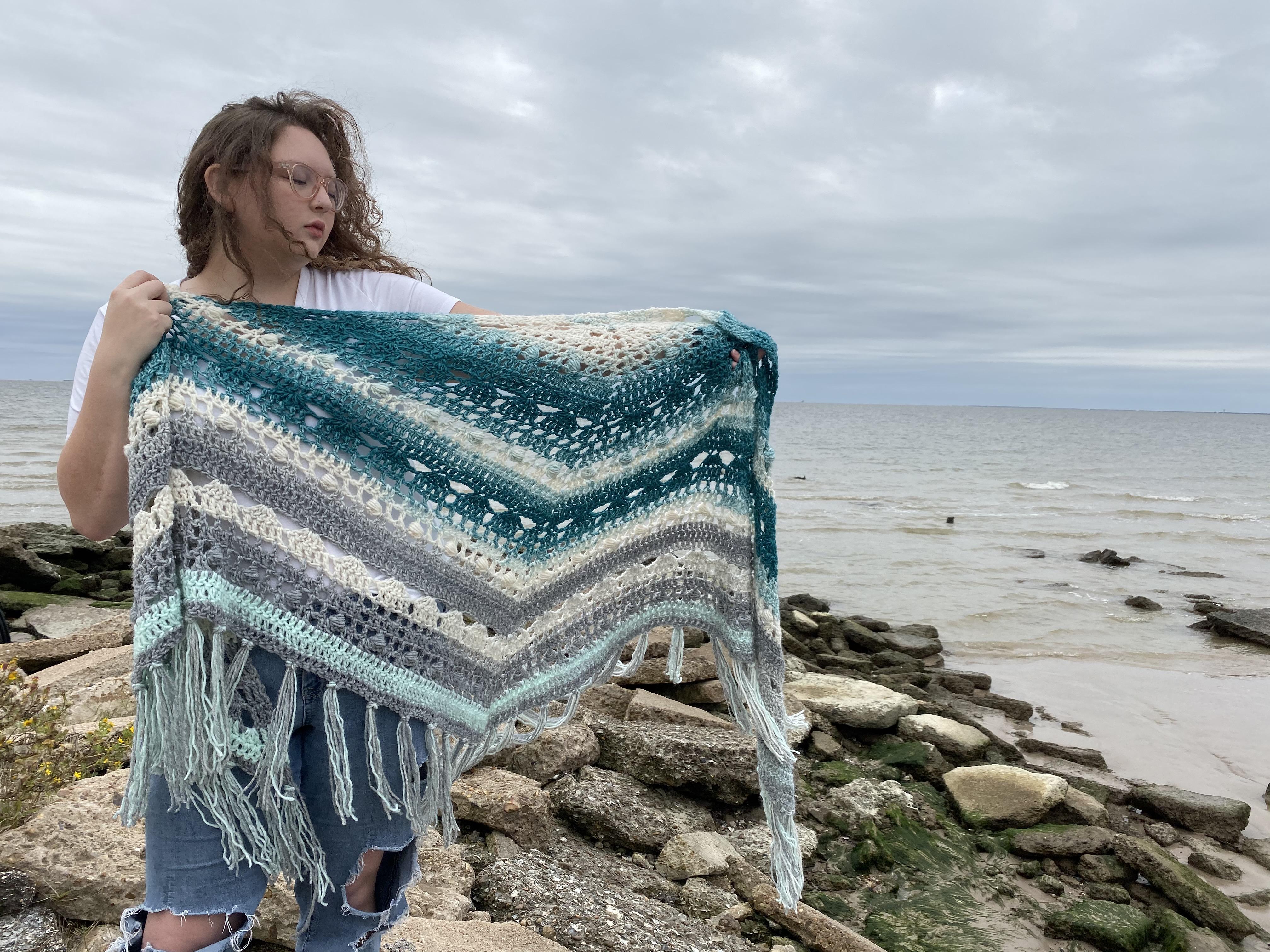 Big Squish Winter Free Crochet Wrap Up Shawl Pattern